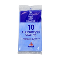 Stay Calm & Keep Cleaning 10pk All Purpose Cloths